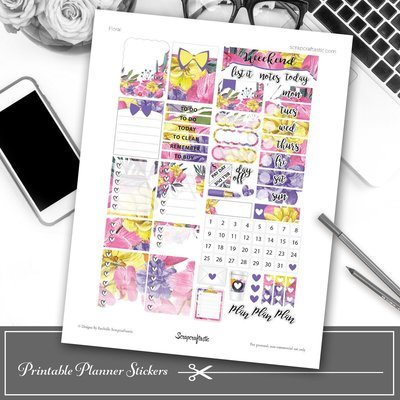 Floral Printable Planner Stickers