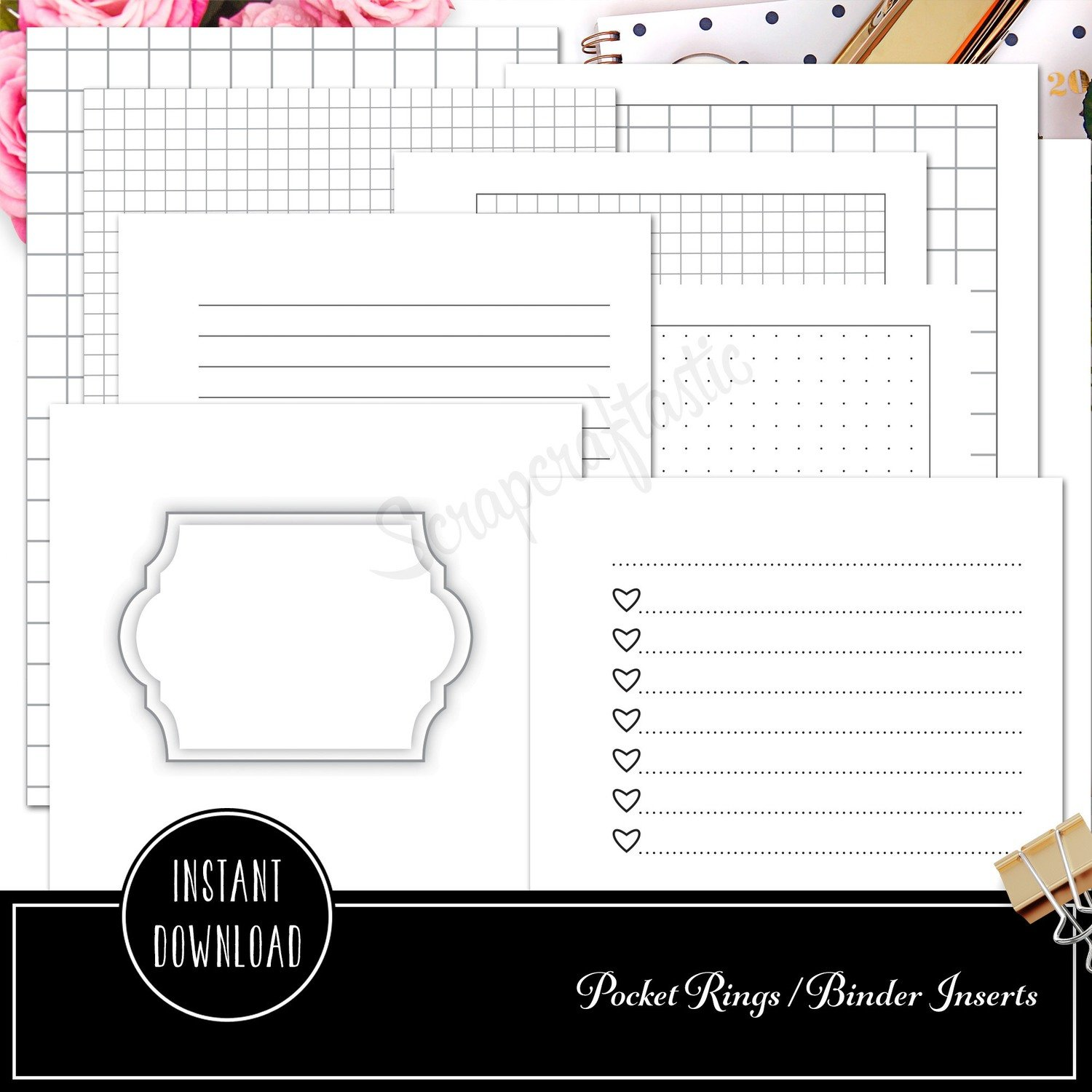 pocket rings the basics ring binder printable inserts cover