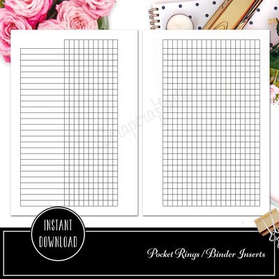 POCKET RINGS - Habit Tracker Ring Binder Printable Planner Inserts