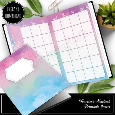 PASSPORT TN - Unicorn Magic Monthly Undated Traveler's Notebook Printable Insert