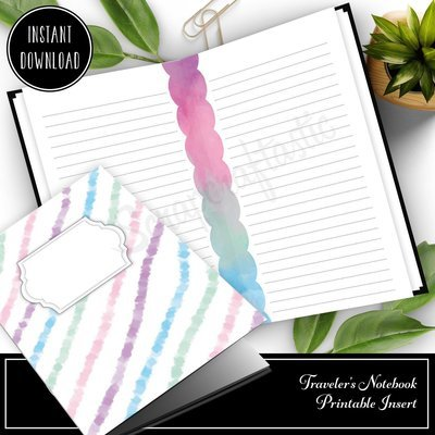 A6 TN - Unicorn Magic Lined Note Paper Traveler's Notebook Printable Insert