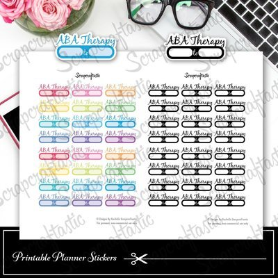 ABA Therapy Appointment Printable Planner Stickers
