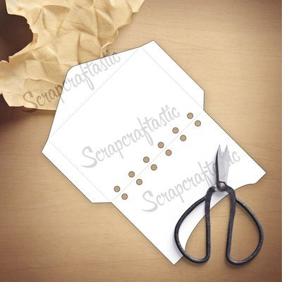 POCKET RINGS A7 - Envelope Template & Cut Files