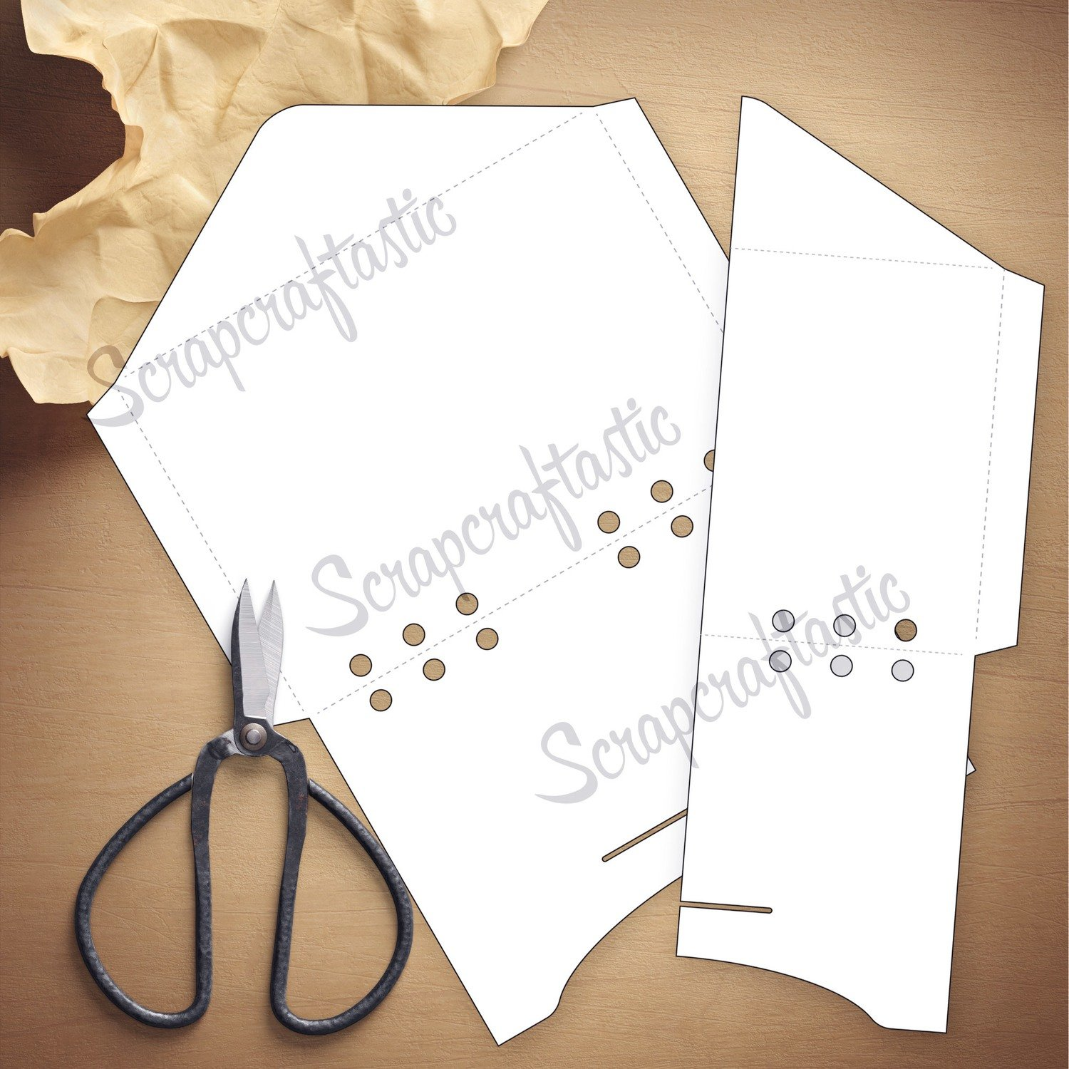 PERSONAL WIDE RINGS - Envelope Template & Cut Files