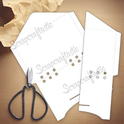 PERSONAL WIDE RINGS - Envelope Template & Cut Files