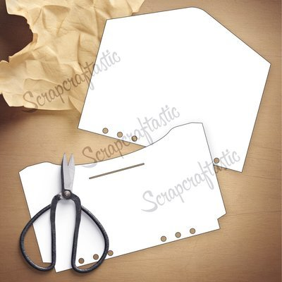 HALF LETTER / A5 RINGS - Envelope Template & Cut Files