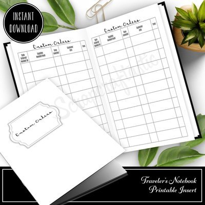 B6 TN - Makers Basic Custom Orders Traveler's Notebook Printable Insert