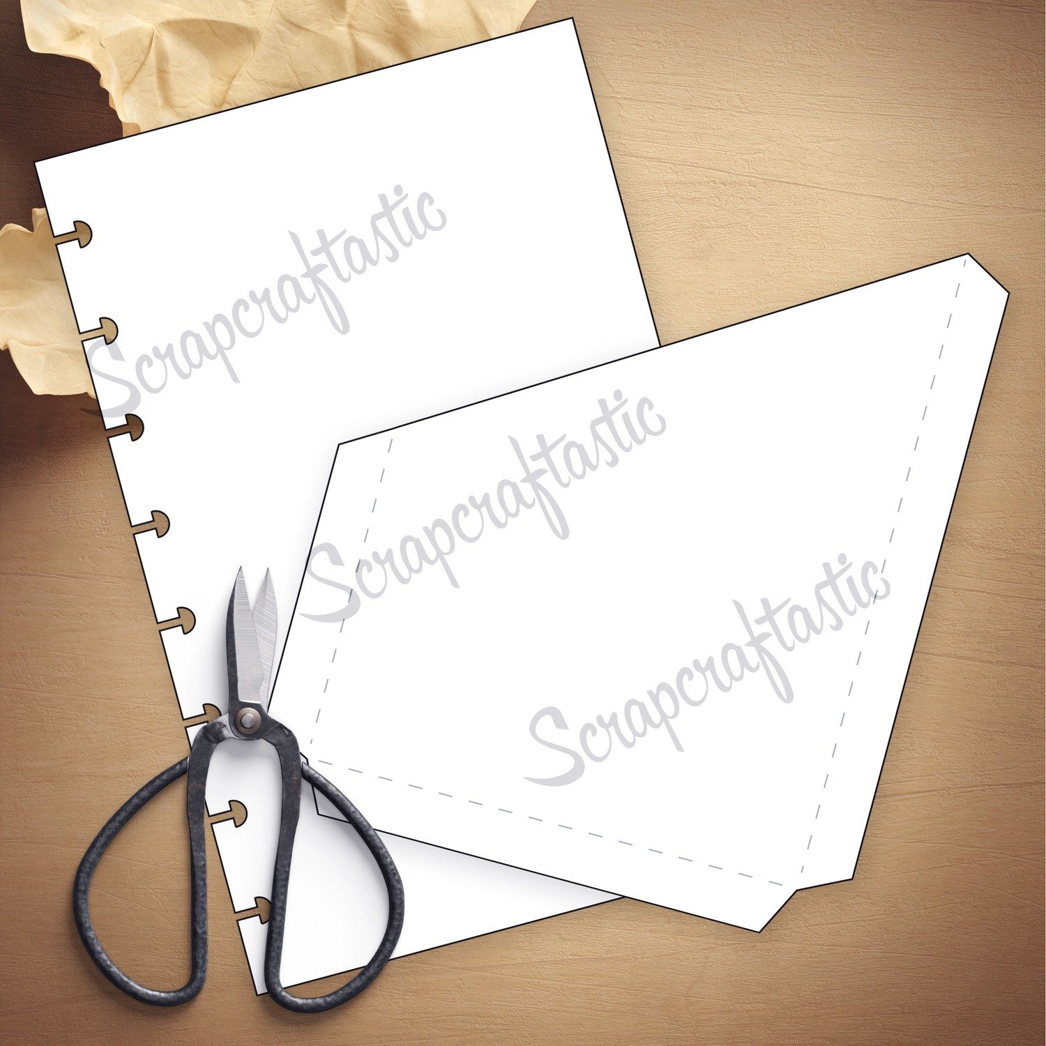 HALF LETTER DISCS Folder Insert Template and Cut Files