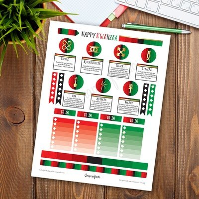 Kwanzaa Printable Planner Stickers