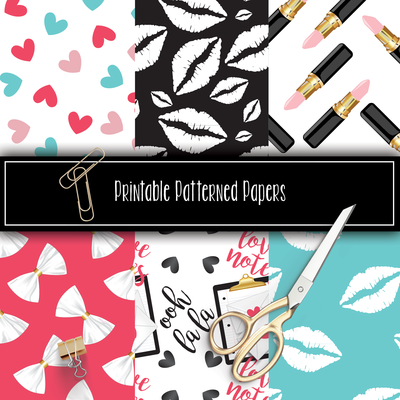V Day Printable Patterns