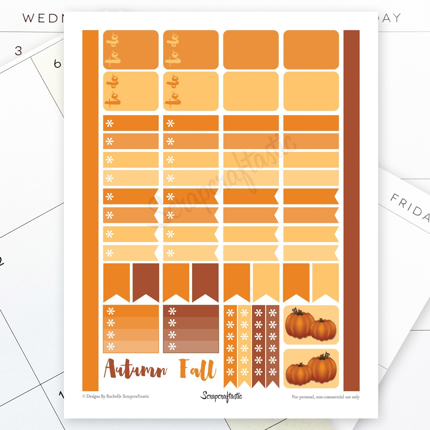 All Pumpkin Spice Printable Planner Stickers