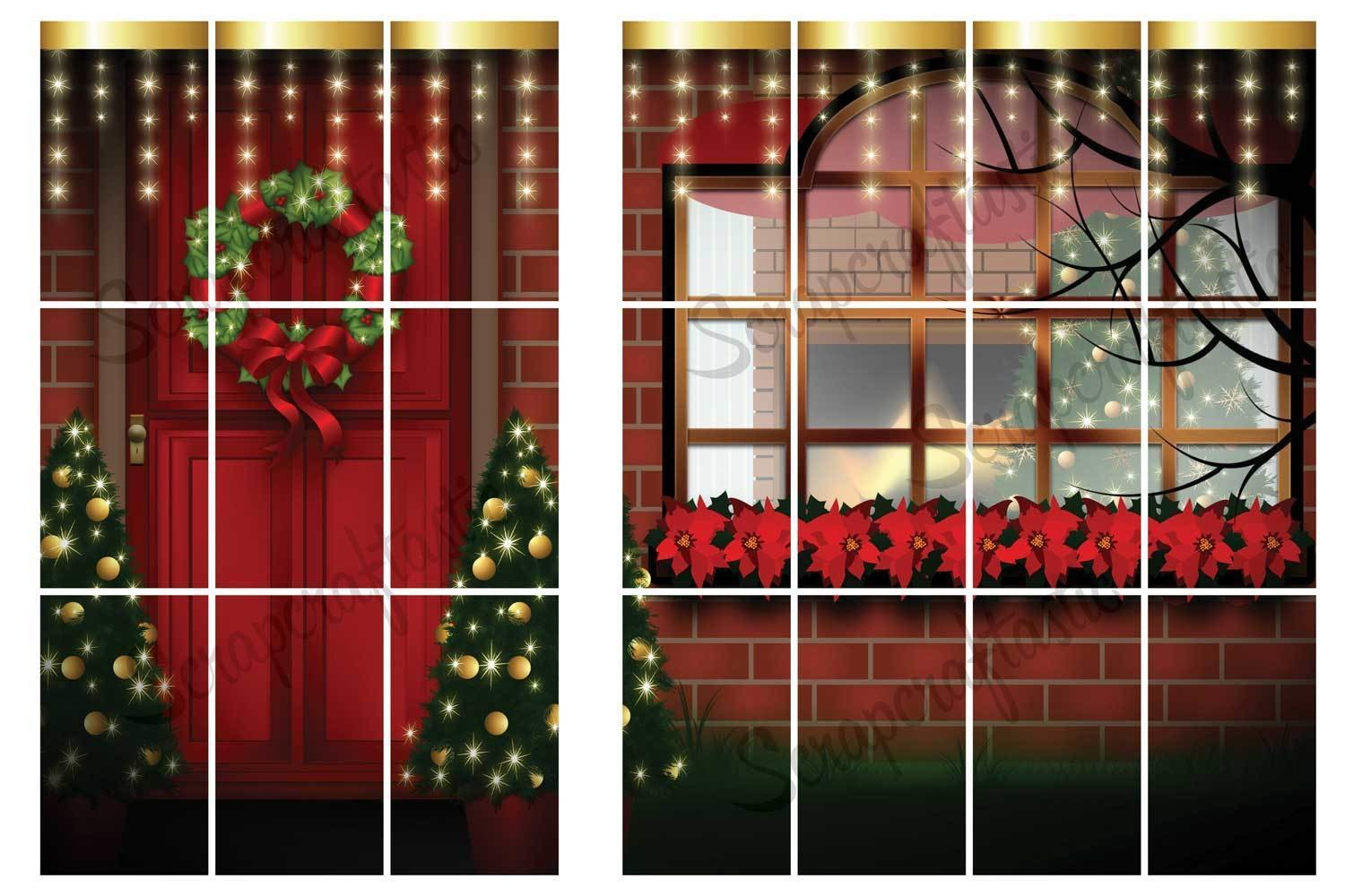 Christmas Door Printable Planner Sticker Spread for the Classic MAMBI Happy Planner