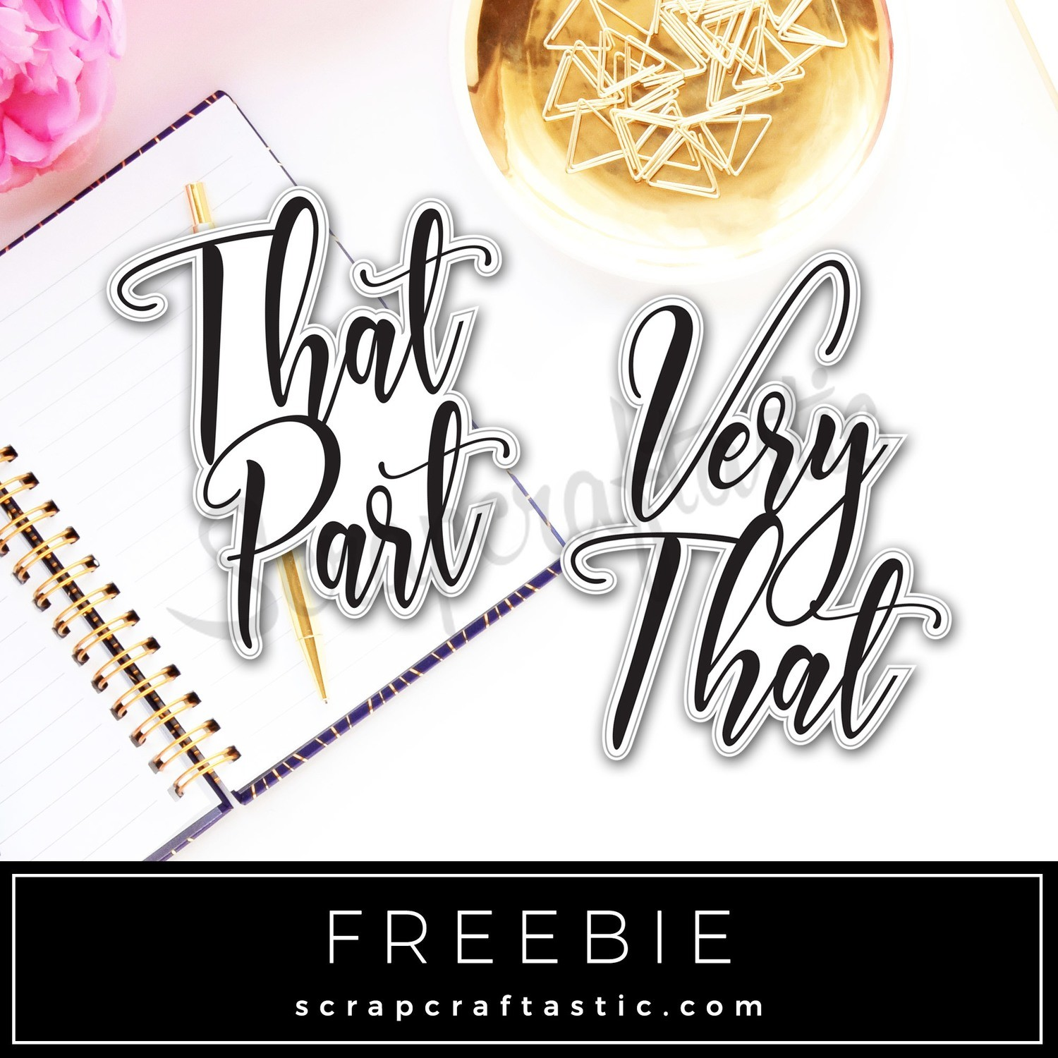 Very That Part Free Printable Graphic Clip Art or Die Cut Digital Download