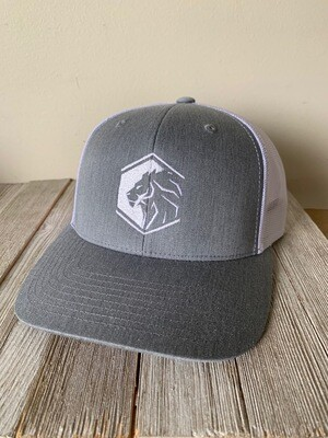 Legacy - Grey & White ball cap