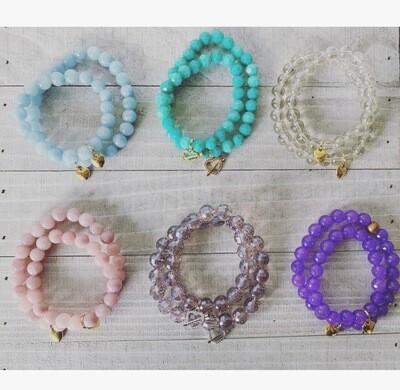 Back to school beaded bracelets