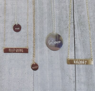 One word Necklace