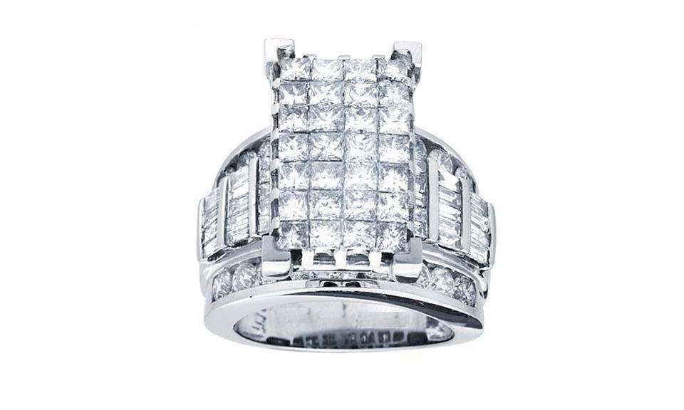 1CTW Princess Cut Diamond Ring 10KW