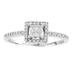 0.60CTW Princess Cut Diamond Engagement Ring 10KW