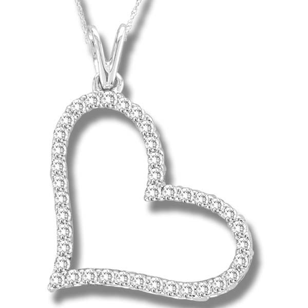 0.25CTW Heart Diamond Pendant 10K