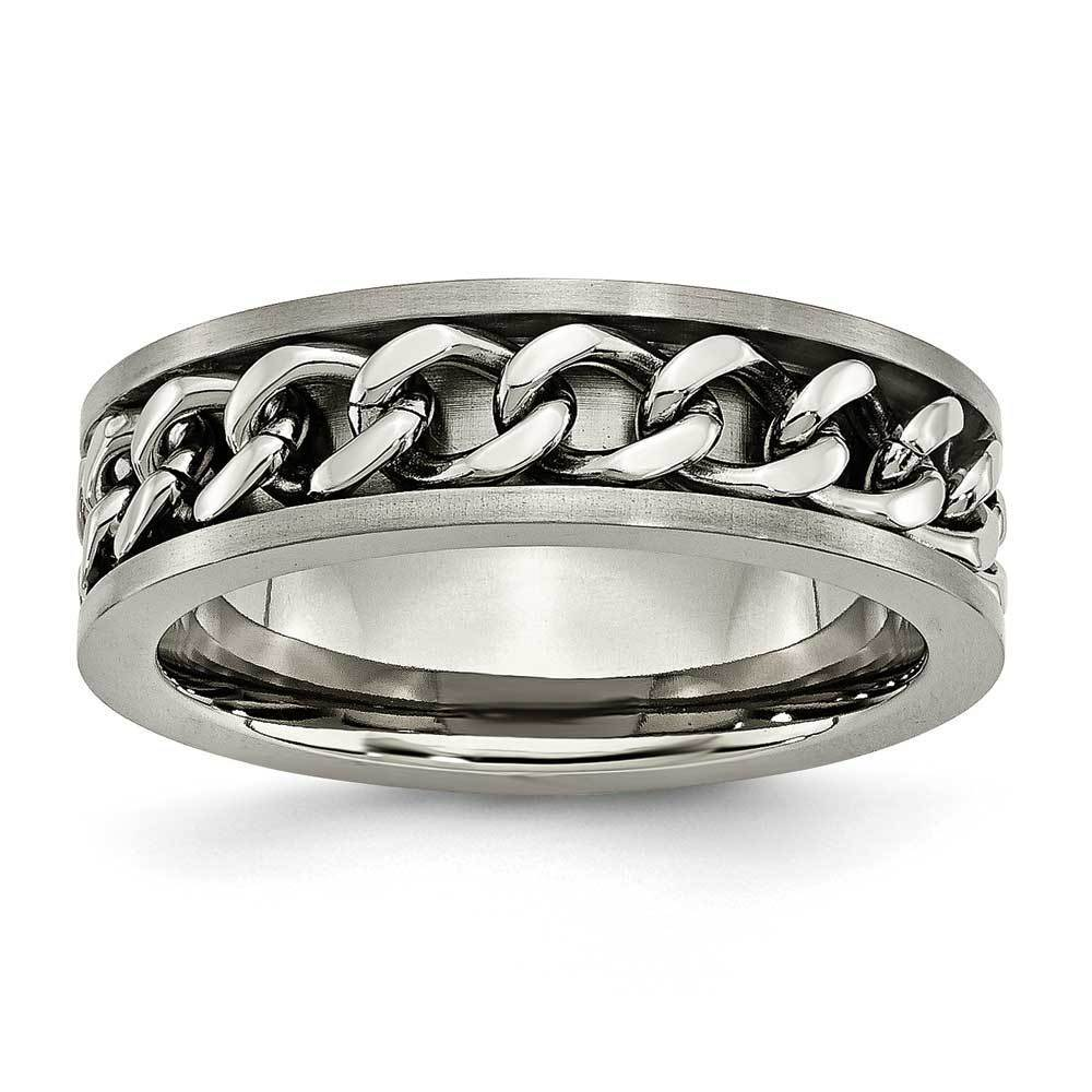 Men's Cable Design Titanium Band