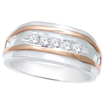 0.25CTW Men's Diamond Ring 10KW
