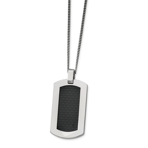 Titanium Black Carbon Fiber Necklace
