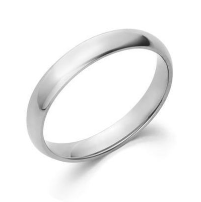 3MM CF Wedding Band 10K