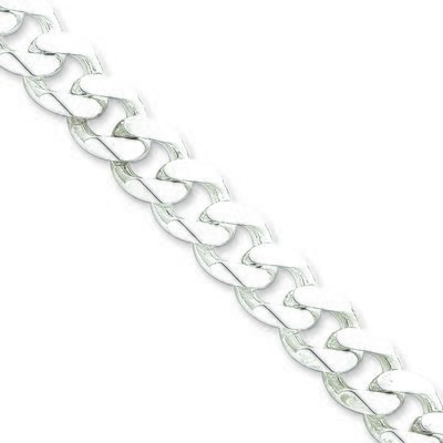 11MM Curb Link Silver Chain