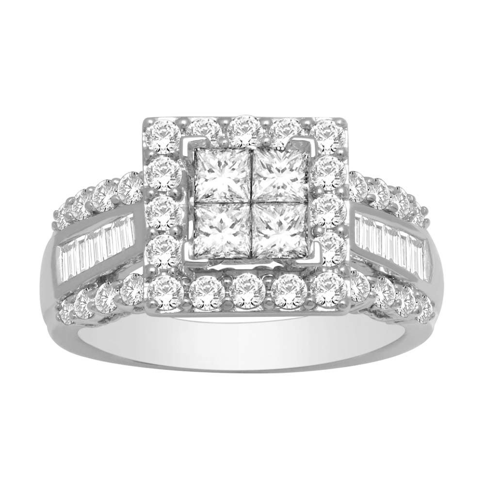 2Ctw Princess Diamond Wedding Ring 10KW