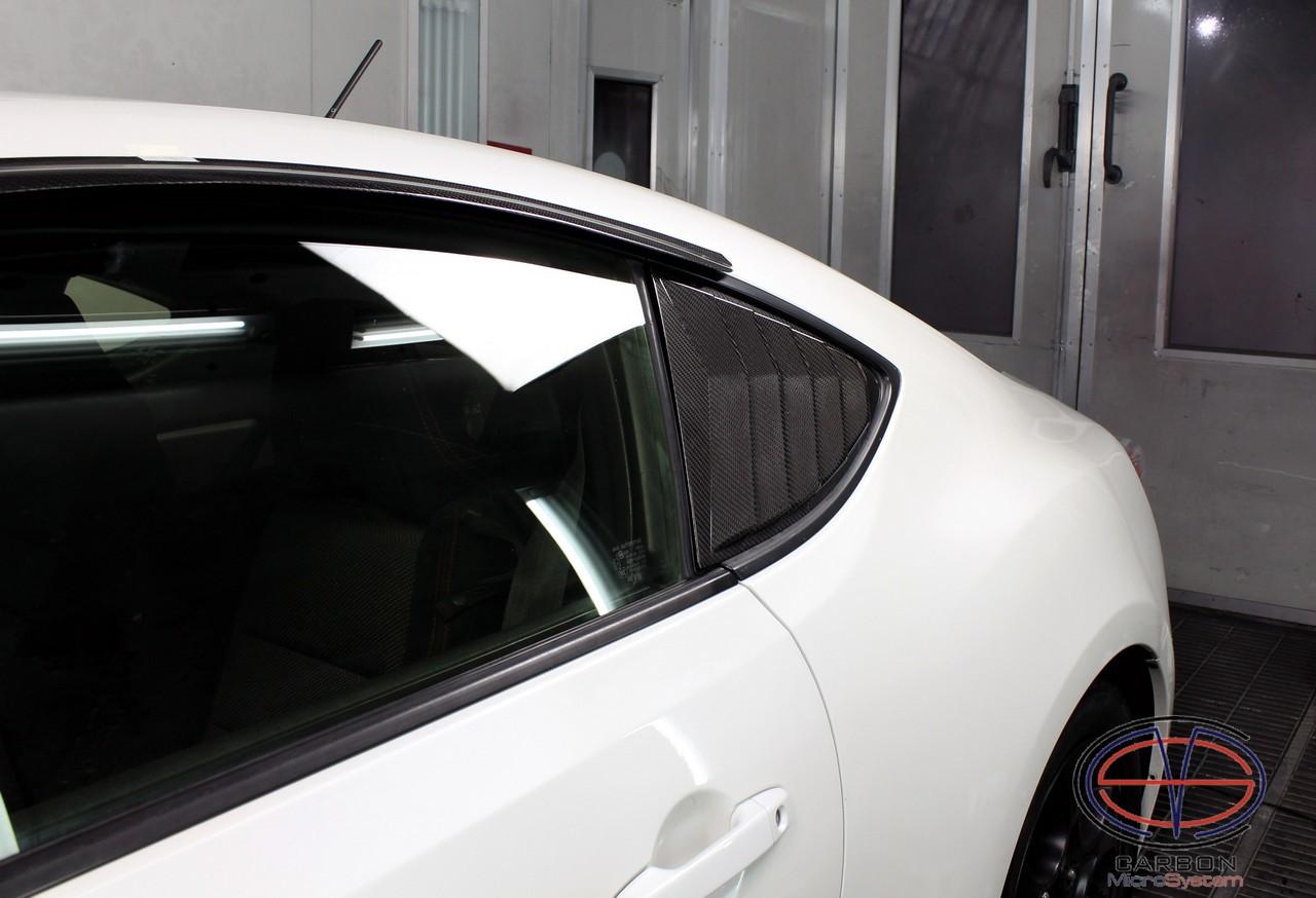 Rear Louver Quarter Window panel from carbon fiber for Toyota GT86, Subaru BRZ, Scion FR-S