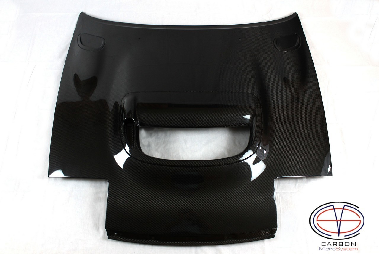 Hood CS from Carbon Fiber for TOYOTA Celica  St18 (With center and side vents)