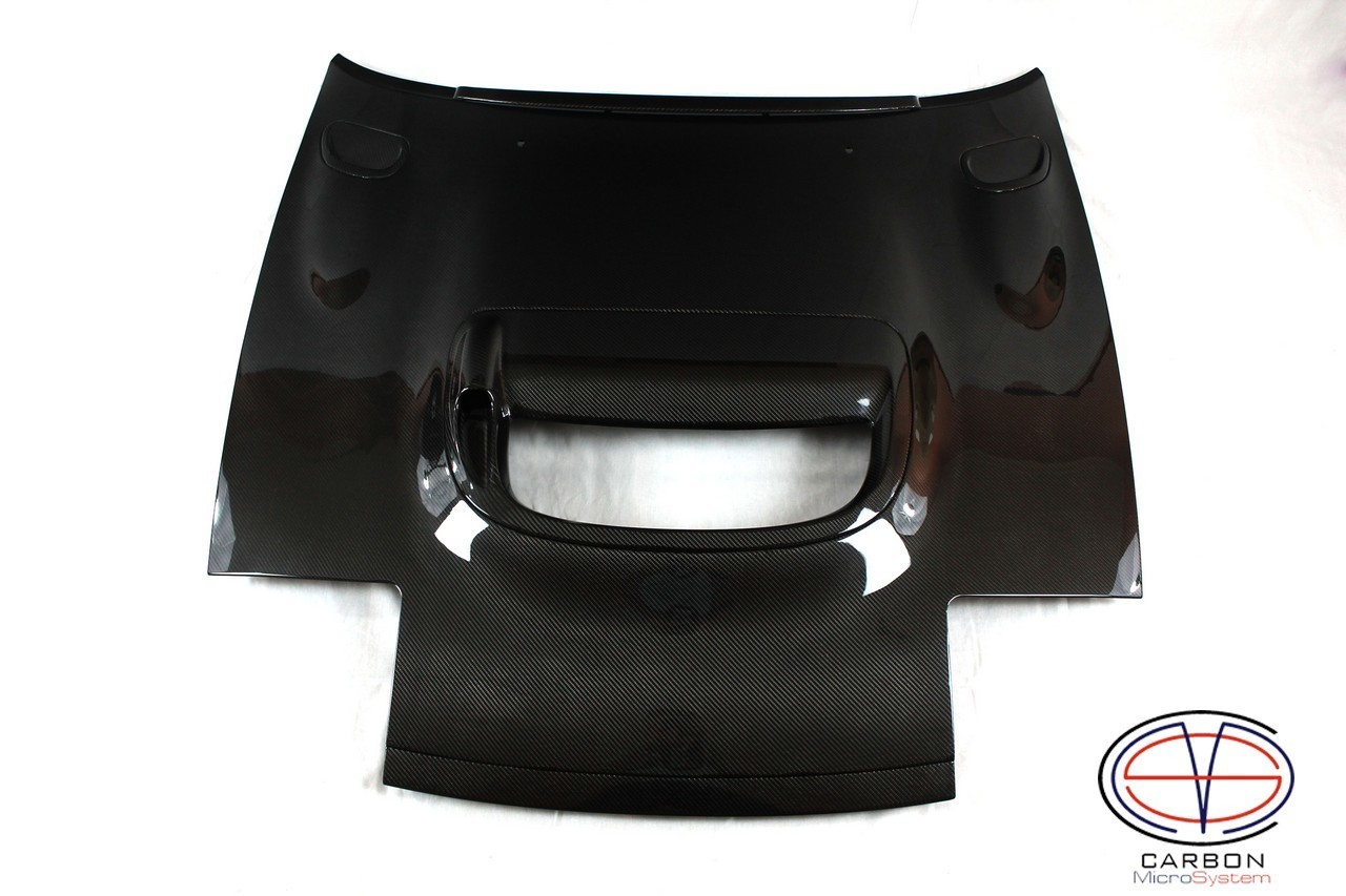 Hood CS from Carbon Fiber for TOYOTA Celica  St18 (Full set - With Front grill, bonnet spoiler, center and side vents)
