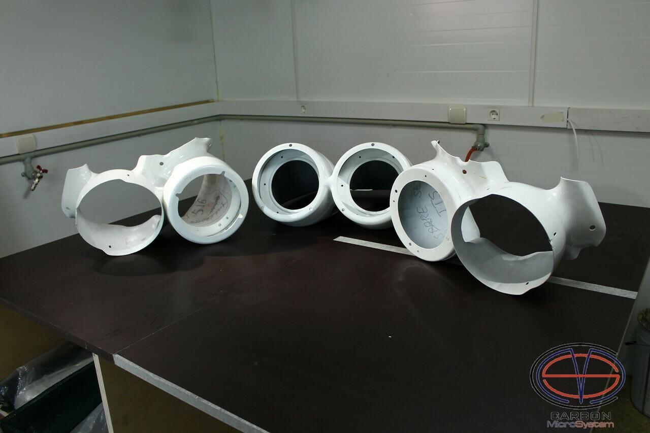 TTE rally light pods (Full set) from Fiberglass for TOYOTA Celica ST205 GT4