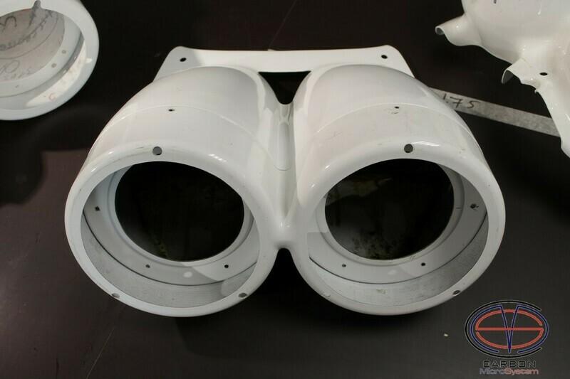 TTE rally light pods (Bonnet Pods) from Fiberglass for TOYOTA Celica ST205 GT4