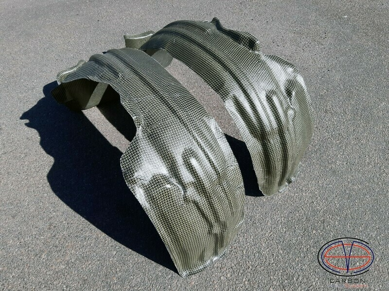 Inner fender liner (wide) for Toyota Celica ST18 from Kevlar and Carbon Fiber