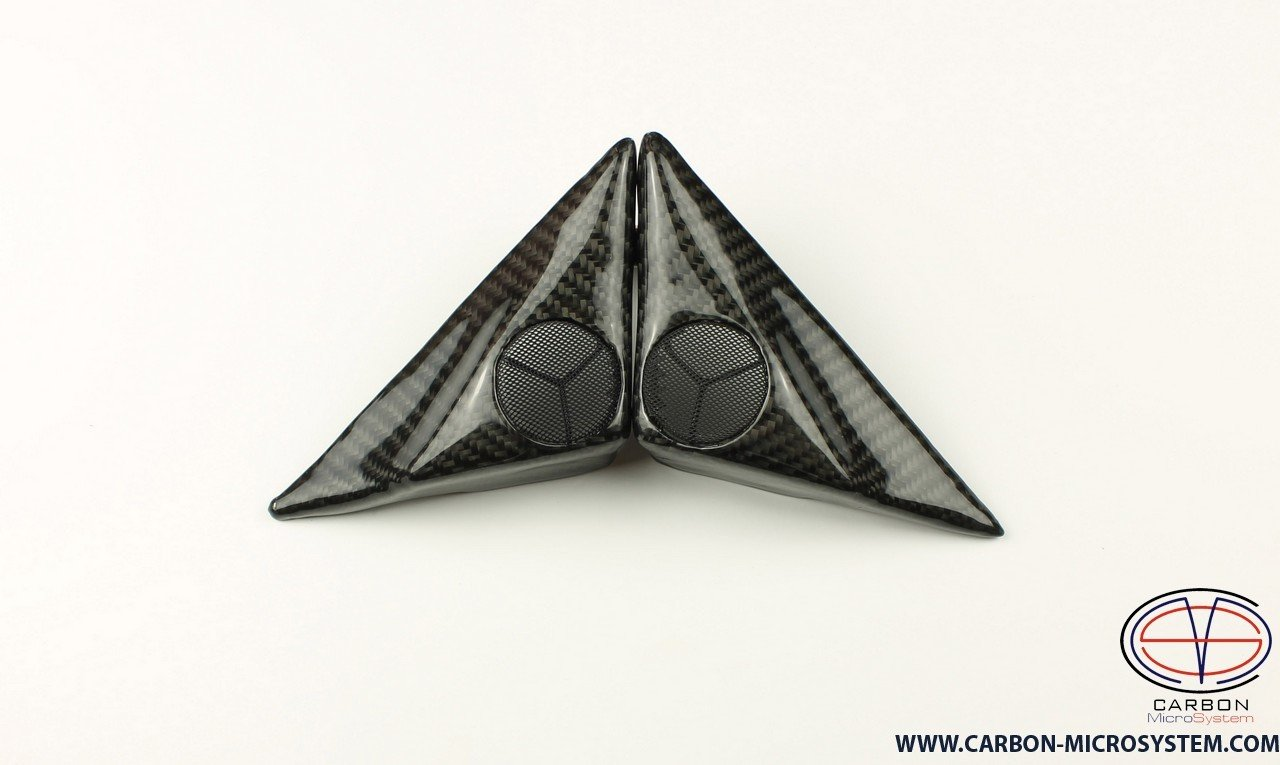Carbon fiber door speaker covers