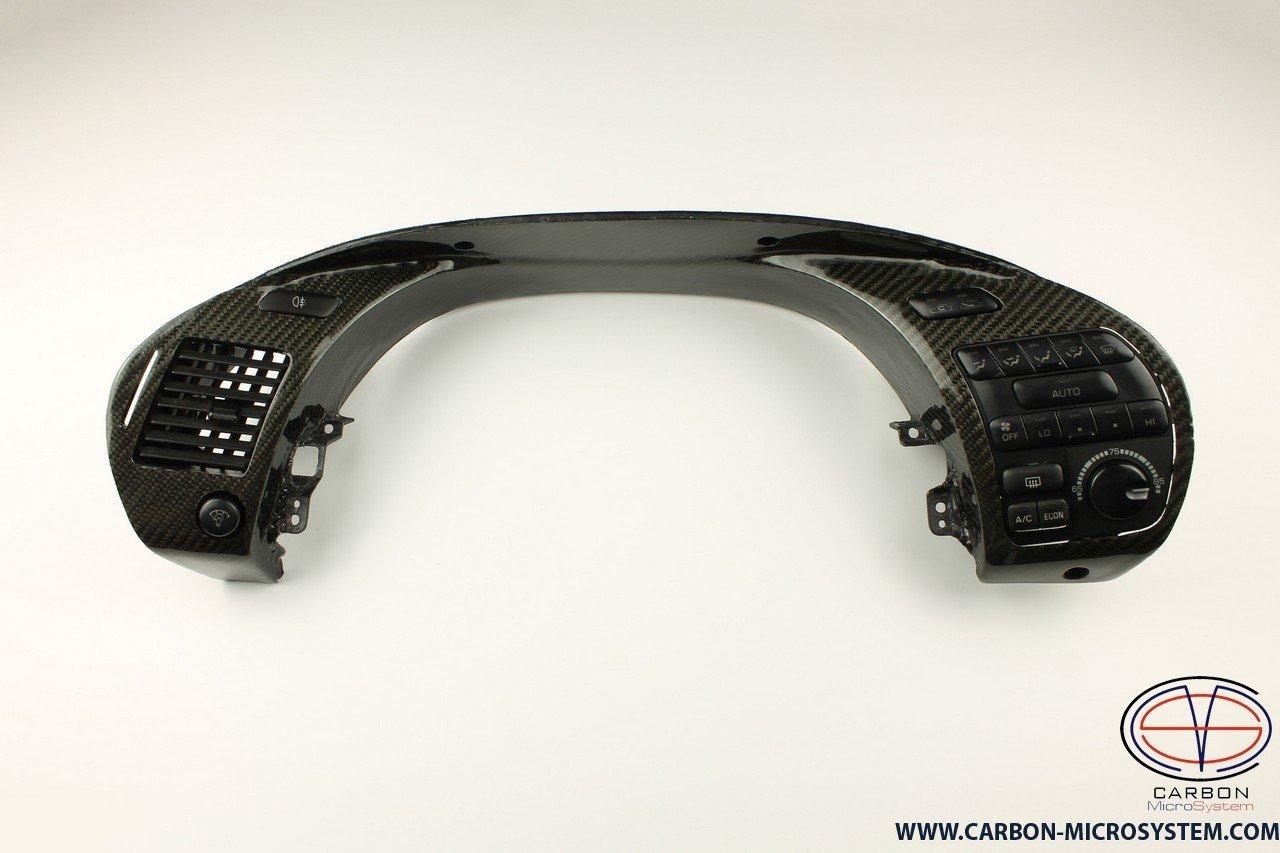 Carbon fiber gauge cluster trim