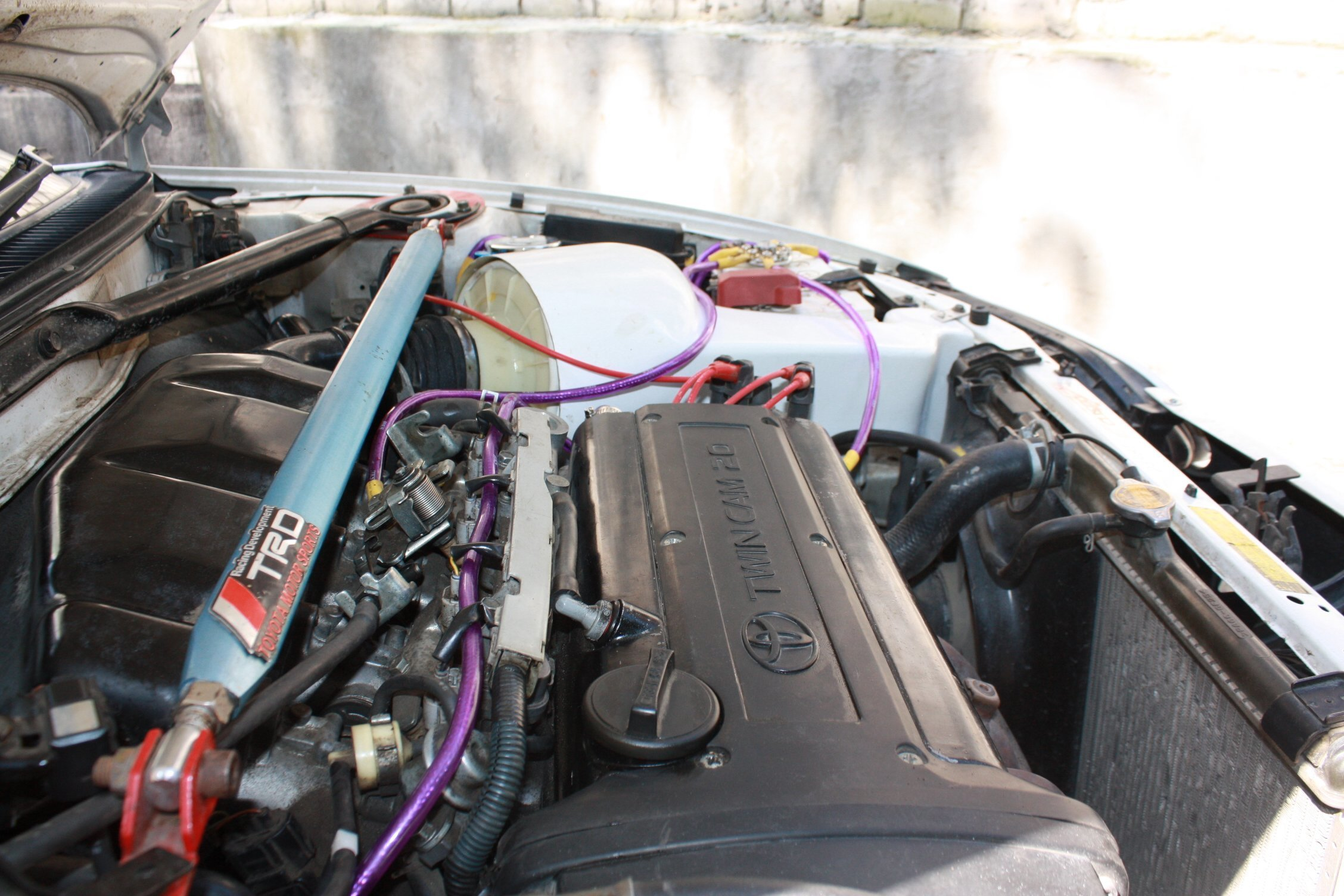 Cold air intake + Filter for engine 4A-GE
