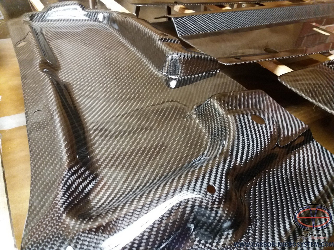 Carbon Fiber Bonnet Rain guard
