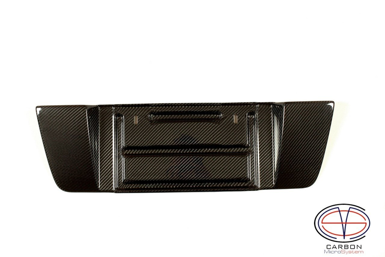 Short number plate panel surround from Carbon Fiber for Lexus is200, is300 2018-12