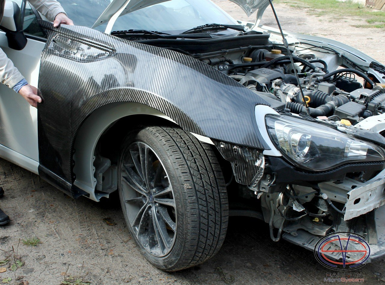 Front fenders for TOYOTA GT86 from Carbon Fiber