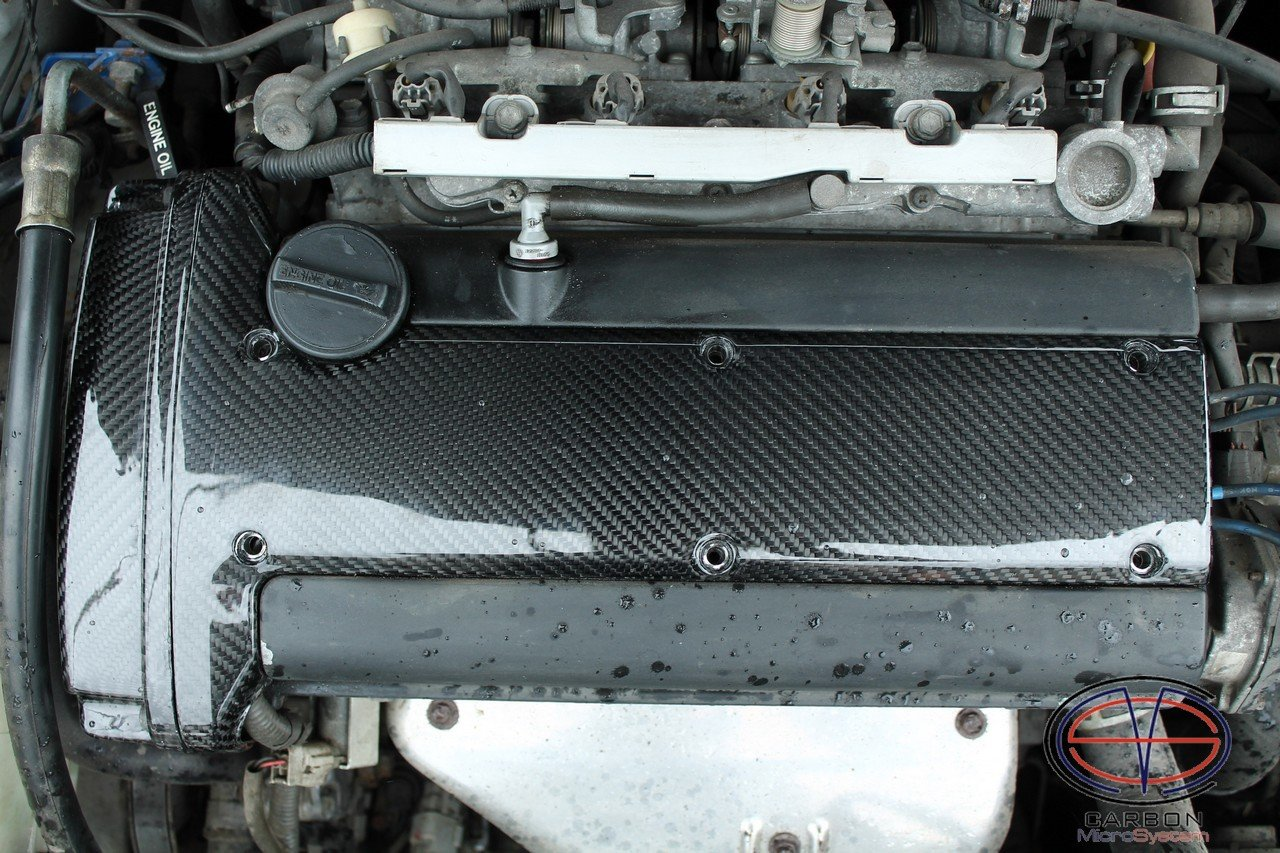 Timing belt cover and spark plug cover from Carbon Fiber for 4A-GE engine (Gen4-5) 2017-10
