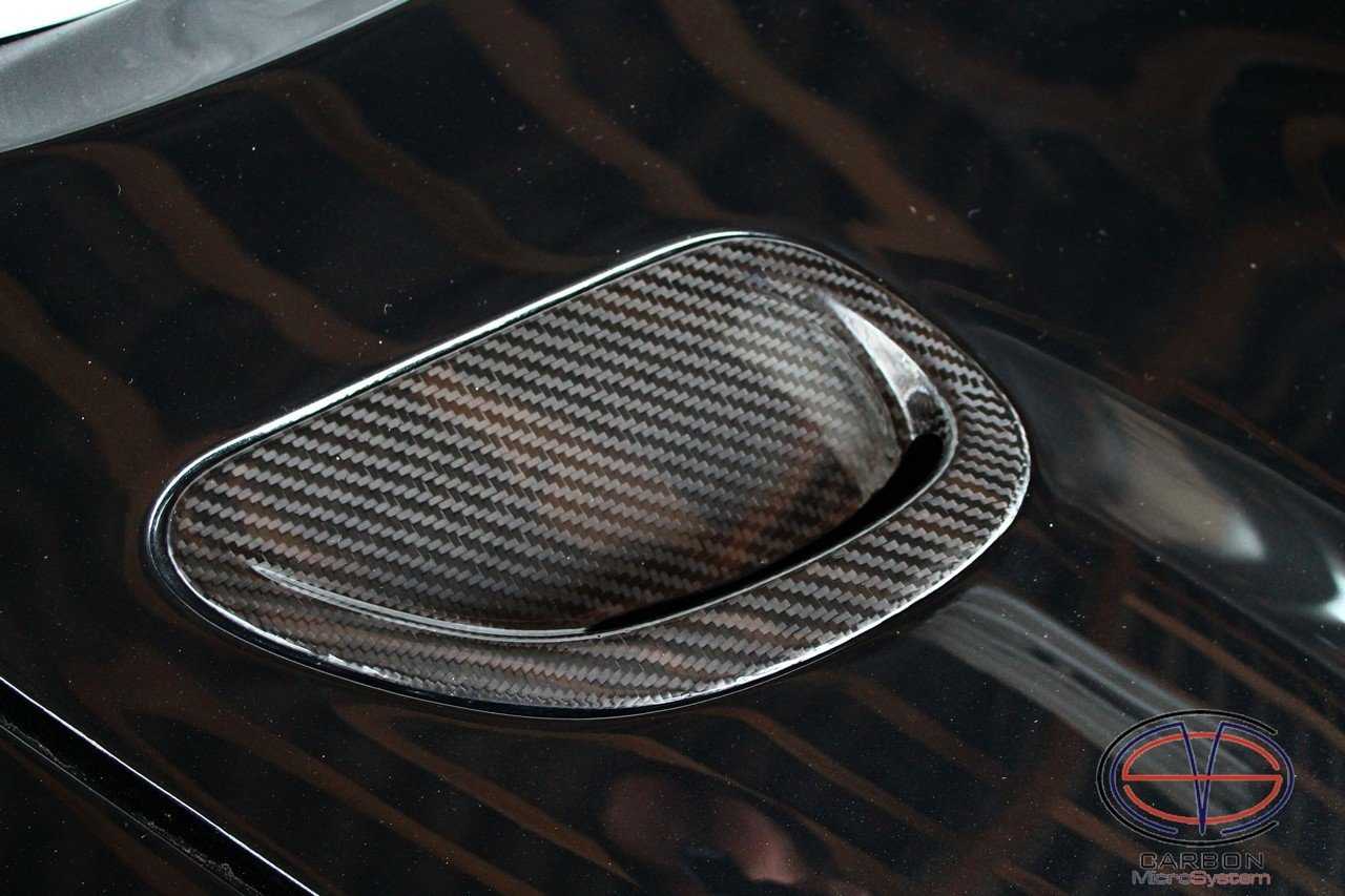 Inserts in hood from Carbon fiber for TOYOTA