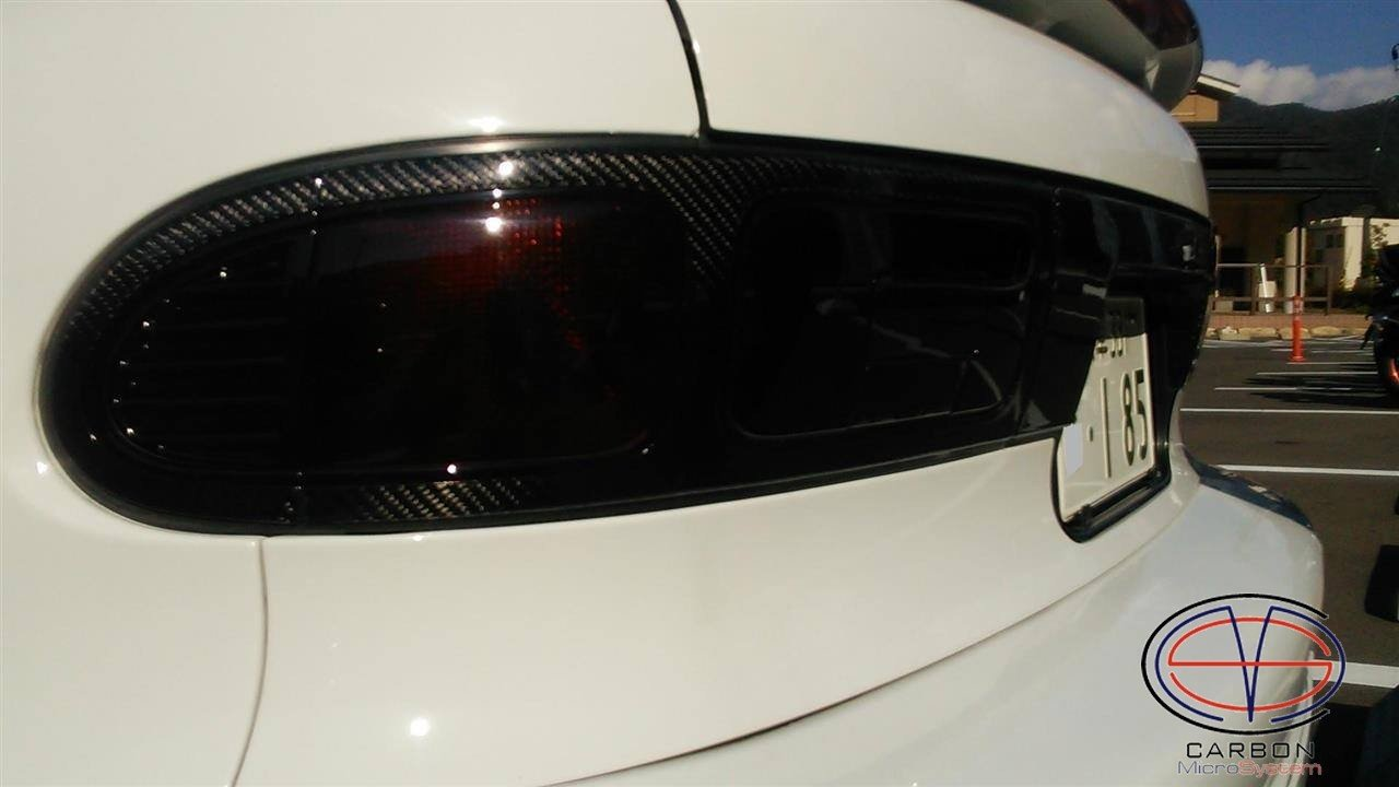 Number plate panel surround (Long) from Carbon Fiber for TOYOTA Celica