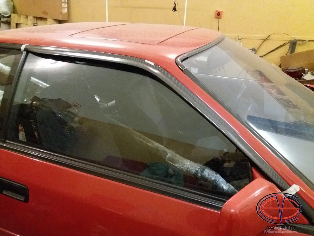 Window Wind - Rain Deflectors from Carbon Fiber for TOYOTA