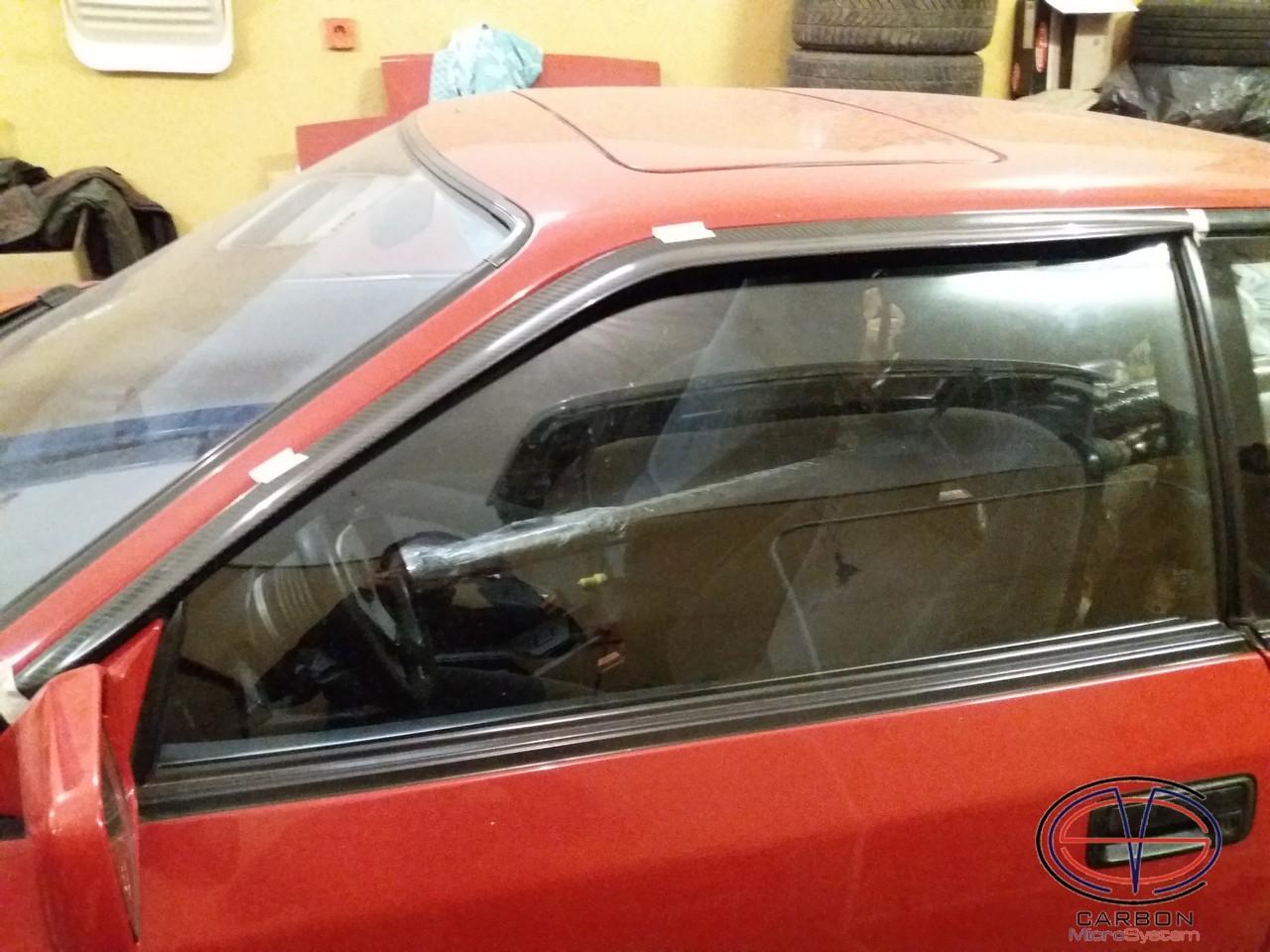 Window Wind - Rain Deflectors from Carbon Fiber for TOYOTA Celica ST165 GT4