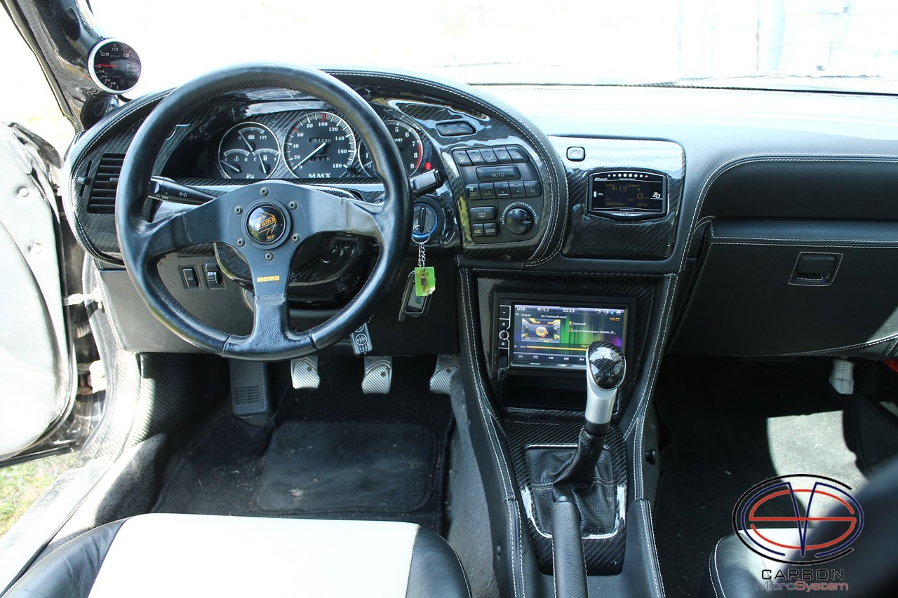 Carbon fiber gauge cluster trim (LHD) for Toyota Celica ST18
