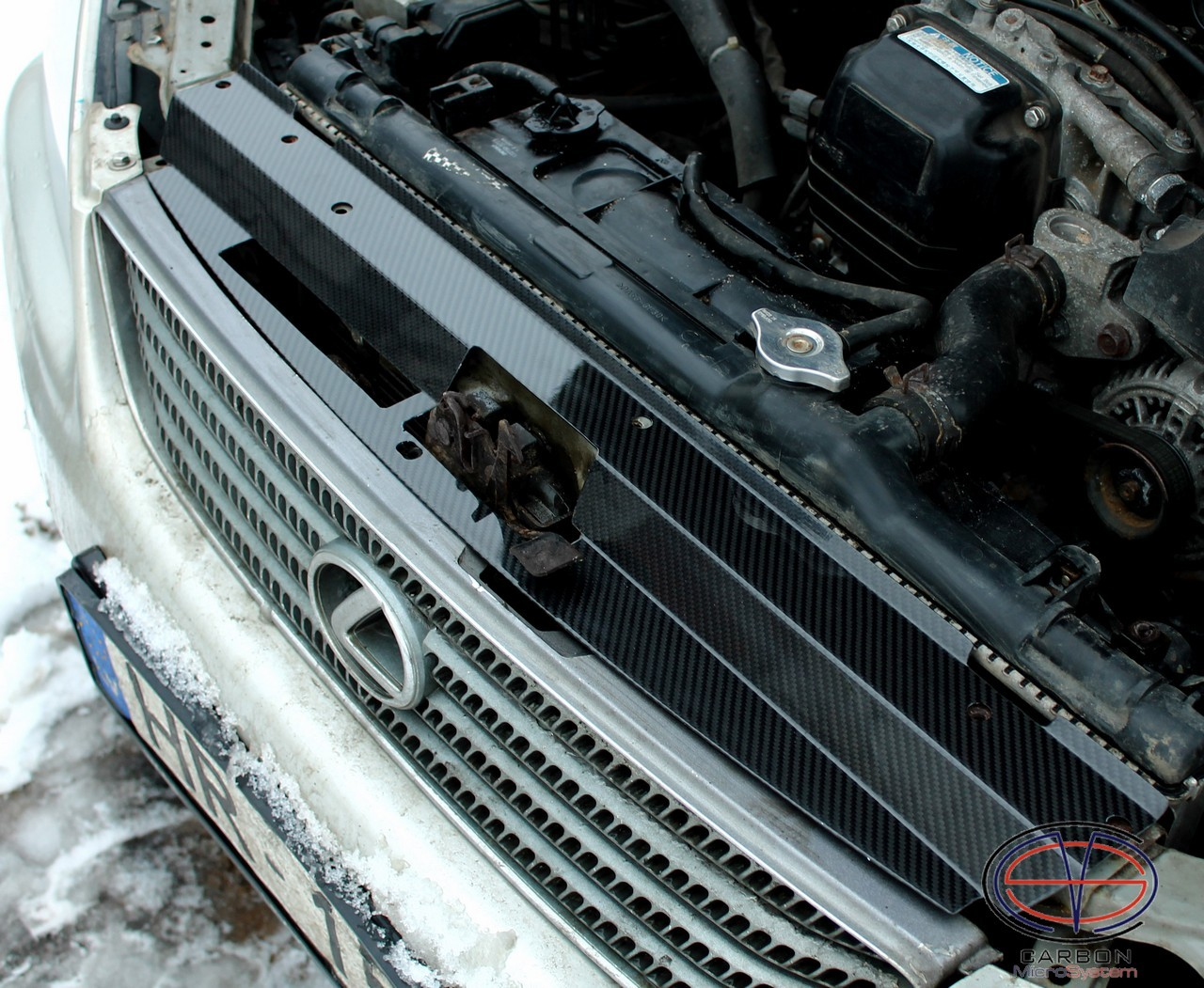 Radiator cooling panel from Carbon Fiber for Lexus IS200, GXE10