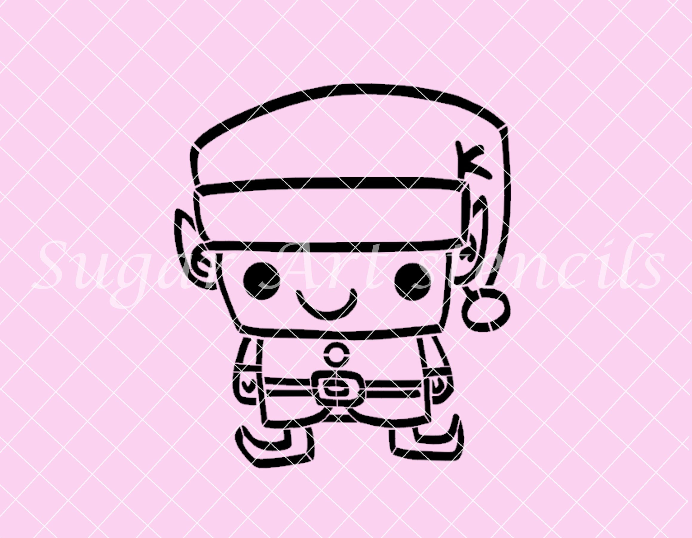 pyo stencil for cookies little elf christmas holidays paint your