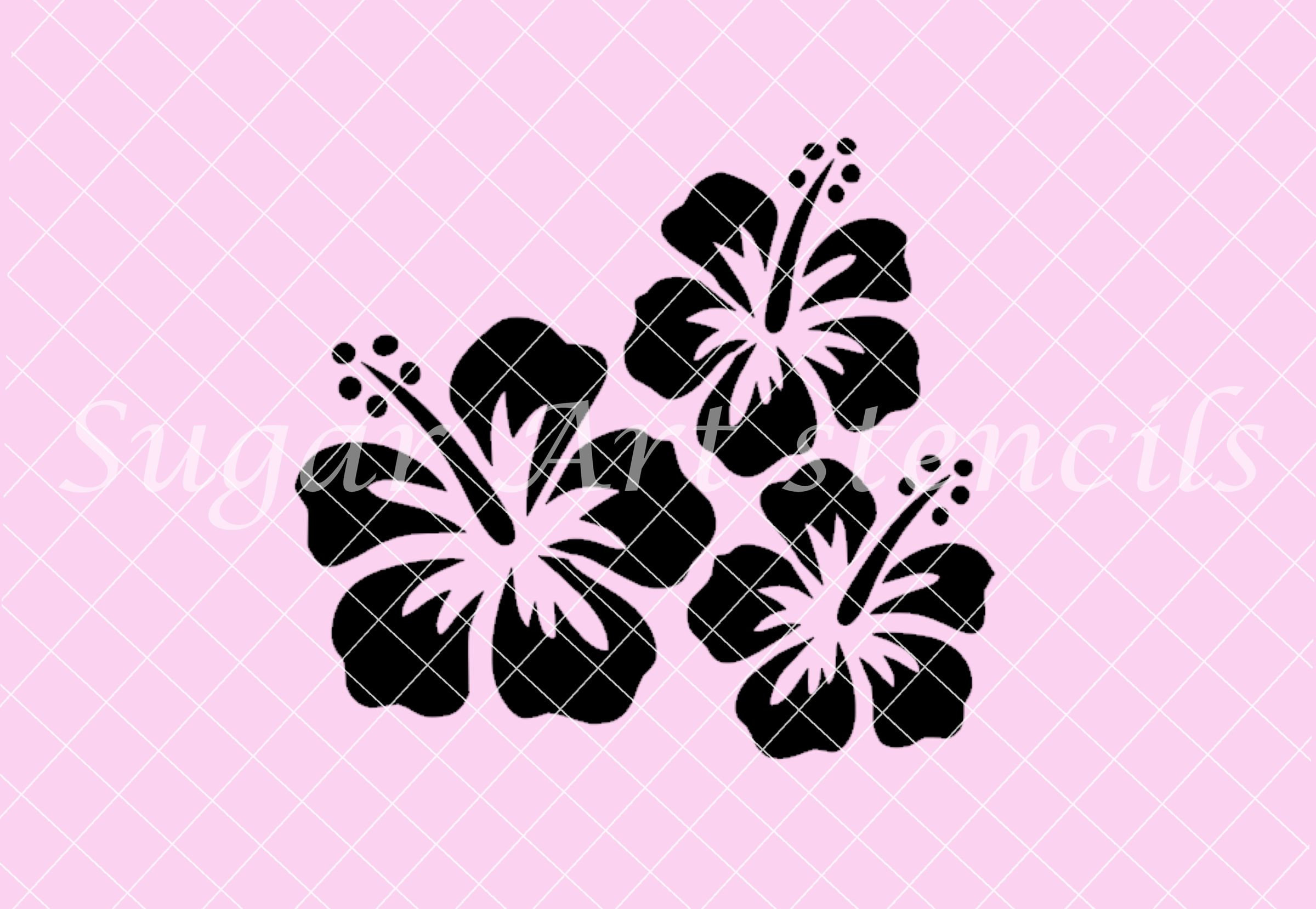 Cute flower stencil template ideas entry level resume templates hawaiian flower stencil best flower 2017 izmirmasajfo Images